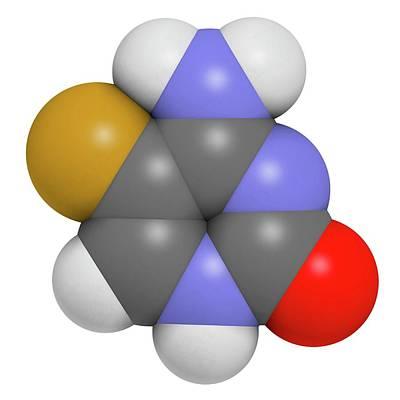 Molecule Photograph - Flucytosine Antimycotic Drug Molecule by Molekuul
