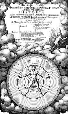 Historia Wall Art - Photograph - Fludd's Book On Metaphysics by Royal Astronomical Society/science Photo Library