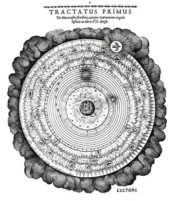 Historia Wall Art - Photograph - Fludd's Macrocosmic World View by Royal Astronomical Society/science Photo Library