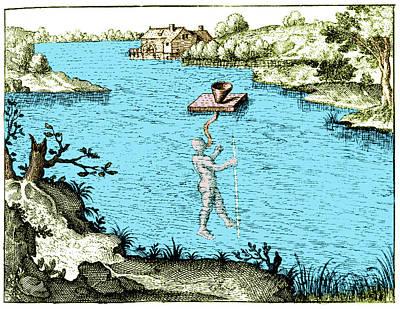 Underwater Breathing Photograph - Fludds Underwater Breathing Apparatus by Science Source