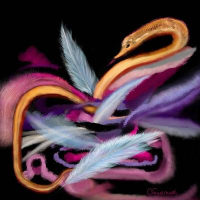 Boa Constrictor Digital Art - Fluff by Christine Fournier