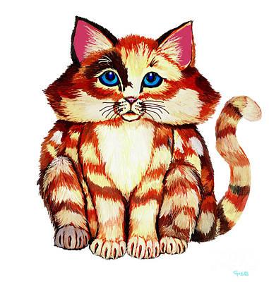 Fluffy Digital Art - Fluffy Cat by Nick Gustafson