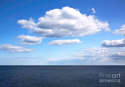 Photograph - Fluffy Clouds Over Open Water by Barbara McMahon