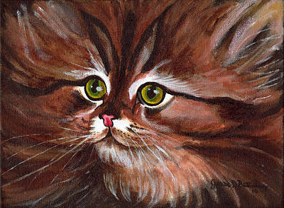 Painting - Fluffy by Jesse Bateman