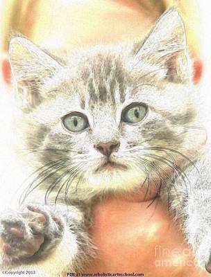 Four-legged Friends Digital Art - Fluffy Kitten by PainterArtist FIN