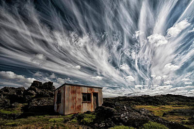 Shack Photograph - Fluffy Sky by ?orsteinn H. Ingibergsson