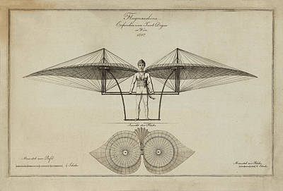 Flugmashine Patent 1807 Print by Bill Cannon