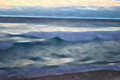 Abstract Beach Landscape Digital Art - Fluid Horizon by Jason White
