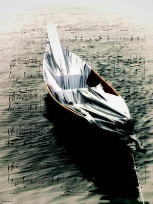 Row Boat Digital Art - Fluid Movement by Barbara D Richards