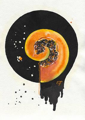 Cantaloupe Painting - Fluidity 03 Elena Yakubovich by Elena Yakubovich