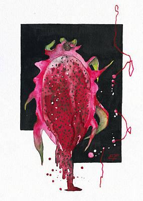 Fluidity 04 -dragon Fruit- Elena Yakubovich  Original by Elena Yakubovich