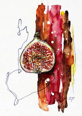 Blood Painting - Fluidity 15 -fresh Fig- Elena Yakubovich by Elena Yakubovich