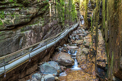 Photograph - Flume Gorge In Autumn by Pierre Leclerc Photography
