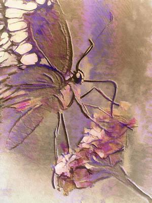 Fluorescent Butterfly Art Print by Jill Balsam