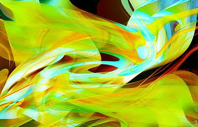 Digital Art - Fluorescent Movement by Roy Erickson