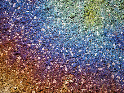 Photograph - Fluorescent Pavement  2 by Rob Huntley