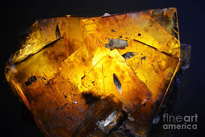 Photograph - Fluorite Crystal Macro Backlit by Shawn O'Brien