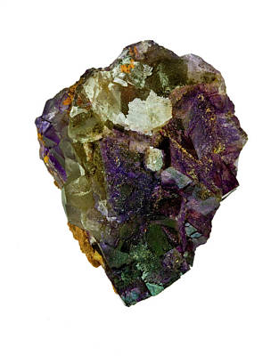 Fluorite Crystal Specimen Art Print by Natural History Museum, London/science Photo Library