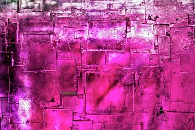 Crystalline Photograph - Fluorite Mineral by Dr Juerg Alean