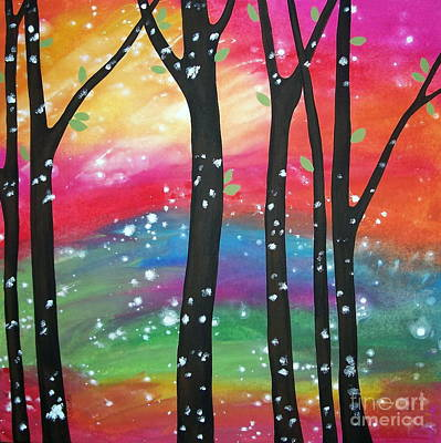 Folk Art Painting - Flurries by Karla Gerard
