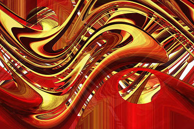 Digital Art - Flush With Gold by rd Erickson