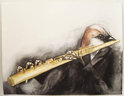 Flute Art Print by Flor Avila