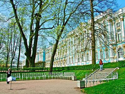 Catherine Palace In Russia Photograph - Flutist In Front Of Catherine's Palace In Pushkin-russia by Ruth Hager