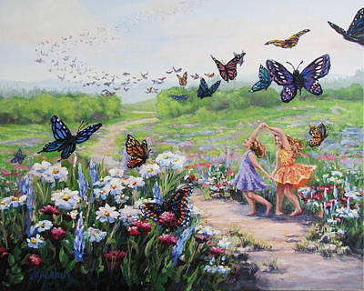 Painting - Flutterby Dreams by Karen Ilari