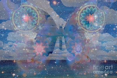 Flutterby Meditation Art Print
