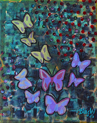 Painting - Fluttering Between Light And Shadow by Donna Blackhall