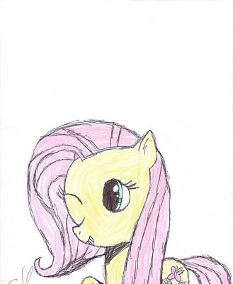 Pegasus Drawing - Fluttershy by Rhapsody Forever