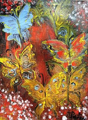 Fluttery Butterflies Art Print by Evelina Popilian