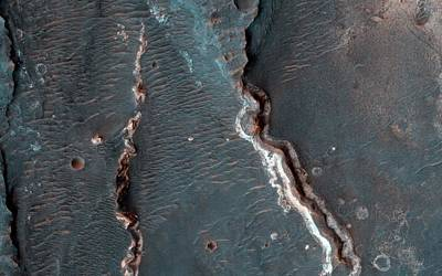 Astrogeological Photograph - Fluvial Features On Mars by Nasa/jpl-caltech/university Of Arizona