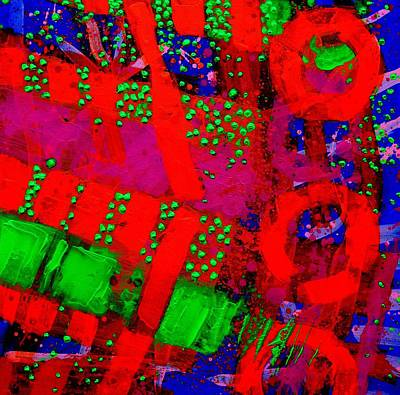 Abstract Expressionism Painting - Flux Line Abstract 24914  by John  Nolan