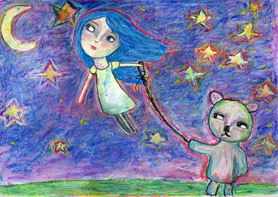 Drawing - Fly A Kite by Lynda Metcalf