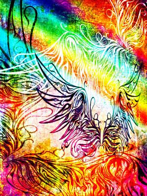 Digital Art - Fly Away 2 by Angelina Vick