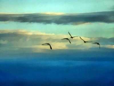 Ibis Digital Art - Fly Away by Ernie Echols