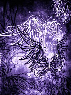 Mixed Media - Fly Away Gothic Grape by Angelina Vick
