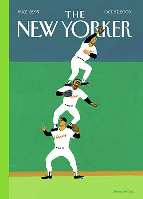 Catch Painting - Fly Ball by Bruce McCall