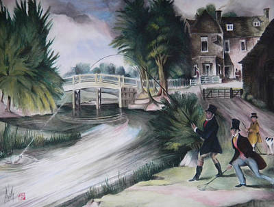 Painting - Fly Fishing by Alan Kirkland-Roath