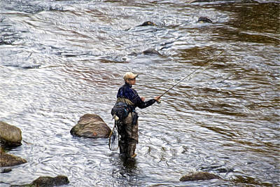 Photograph - Fly Fishing by Bill Howard