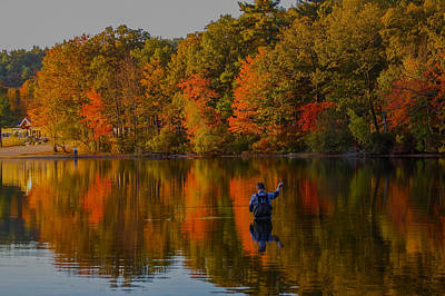 Photograph - Fly Fishing by Brian MacLean