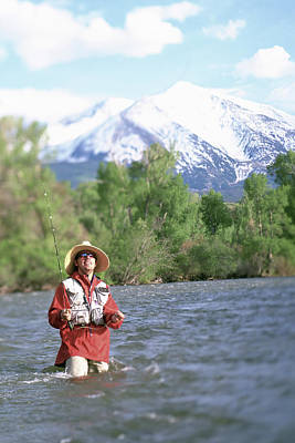 Colorado Fly Fishing River Wall Art - Photograph - Fly Fishing, Colorado by David Clifford
