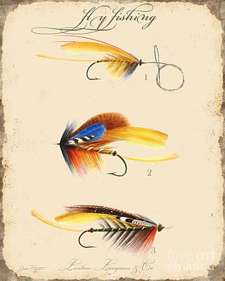 Sportsman Digital Art - Fly Fishing-jp2094 by Jean Plout