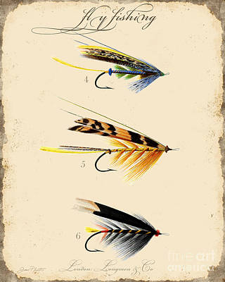 Sportsman Digital Art - Fly Fishing-jp2095 by Jean Plout