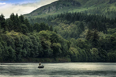 Photograph - Fly Fishing On The River Tay Scotland by Alex Saunders