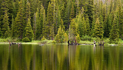 Photograph - Fly Fishing Reflection by Eric Rundle