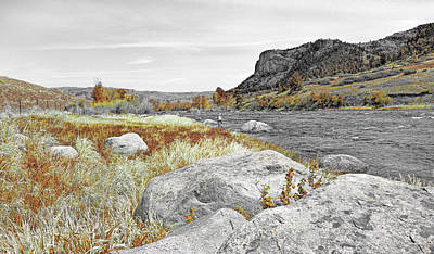 Photograph - Fly Fishing Stillwater River Montana Selective Color by Jennie Marie Schell