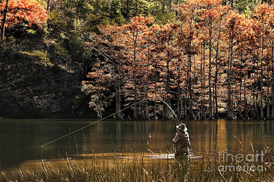 Photograph - Fly Fishing  by Tamyra Ayles
