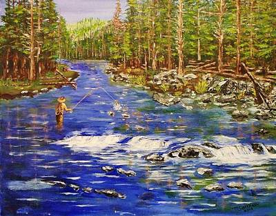Fly Fishing The Sierras Art Print